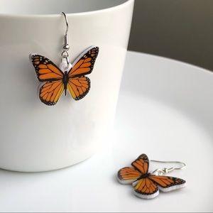 Jewelry - NEW Acrylic Monarch Butterfly Earrings